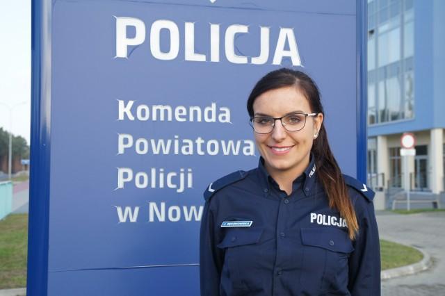 Sierżant Justyna Sęczkowska zaprasza na spotkanie z komendantem policji