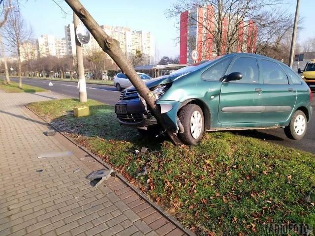 Wypadek na ul. Prószkowskiej w Opolu.