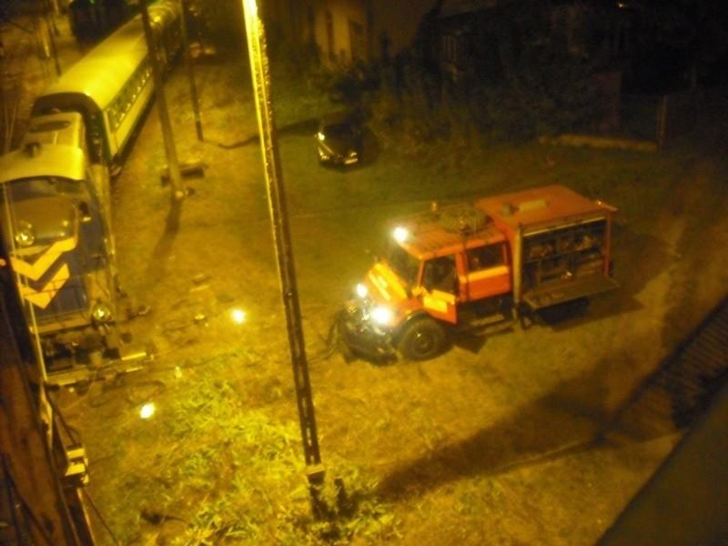 Zderzenie lokomotyw w centrum Białegostoku