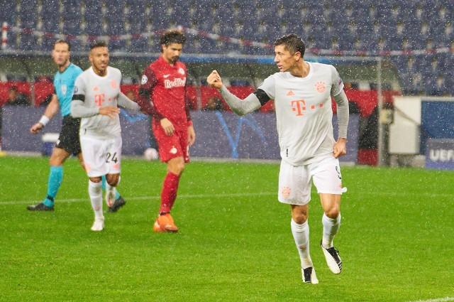 Robert Lewandowski zdobył dwie bramki z Red Bullem Salzburg