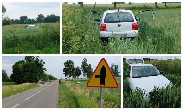 Złotniki. Wypadek niedaleko Juchnowca Kościelnego. Kierowca volvo poszukiwany. Spowodował wypadek i uciekł