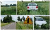 Złotniki. Wypadek niedaleko Juchnowca Kościelnego. Kierowca volvo poszukiwany. Spowodował wypadek i uciekł (zdjęcia)