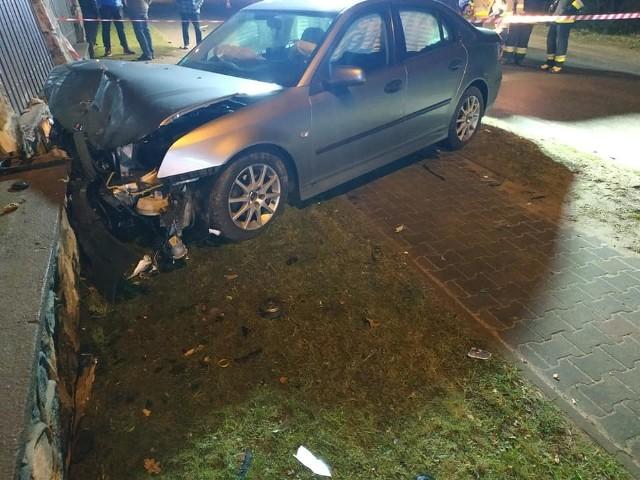 Rząśnik. Zderzenie dwóch samochodów osobowych w Rząśniku, 13.12.2019