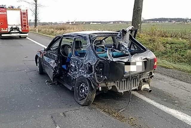 Kierowca hondy trafił do szpitala.