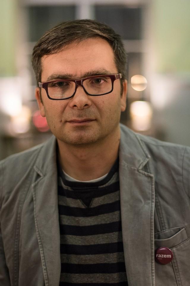 Michał Kołosowski, działacz partii Razem z Poznania