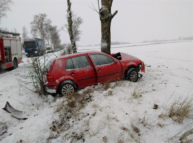 Wypadek na trasie Radziłów - Mścichy.