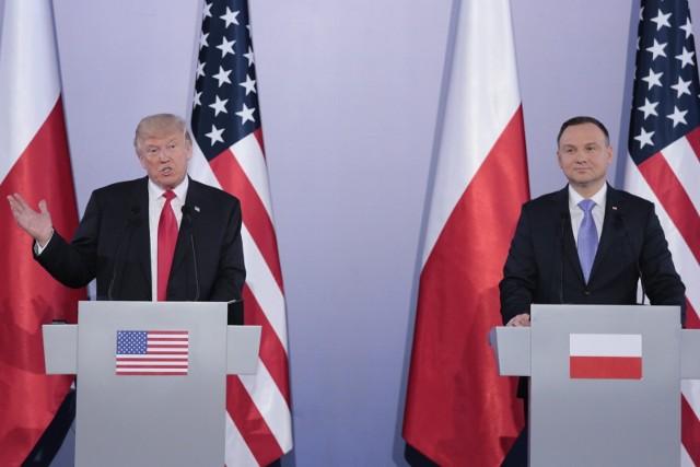 Prezydenci Polski i USA w Warszawie.