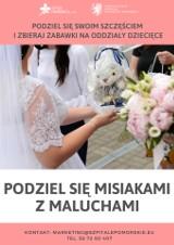 """Akcja """"Podziel się misiakami z maluchami"""" - apelują nowożeńcy i pomorskie szpitale. Na pomysł wpadli państwo Melzerowie z Wejherowa"""