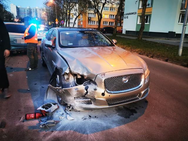 Wypadek na Wańkowicza w Koszalinie.