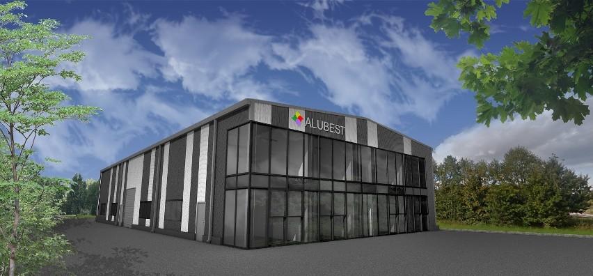 Wizualizacja nowej siedziby firmy Alubest, która ma zostać wybudowana w Połańcu