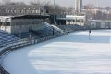 Tęsknicie za żużlem? Tor w Lublinie na razie schowany pod śniegiem. Zobacz zdjęcia