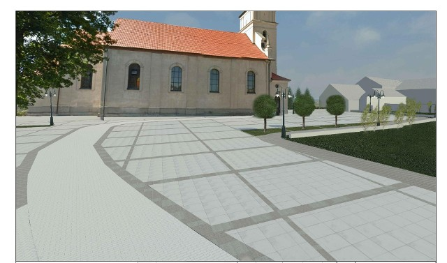 Rewitalizacja centrum Sępólna rozpocznie się 14 września od ulic Farnej, Kościelnej i placu przy kościele