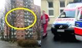 Dziecko przeszło przez barierki balkonu i spadło z 5. piętra w Sosnowcu na Środuli. I żyje!