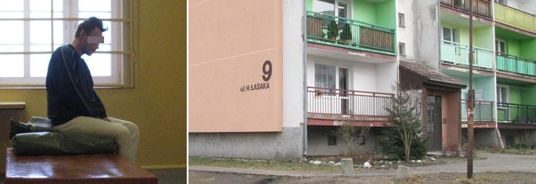 Zatrzymany sprawca pobicia Arkadiusz S. Blok przy Łasaka, w którym doszło do tragedii
