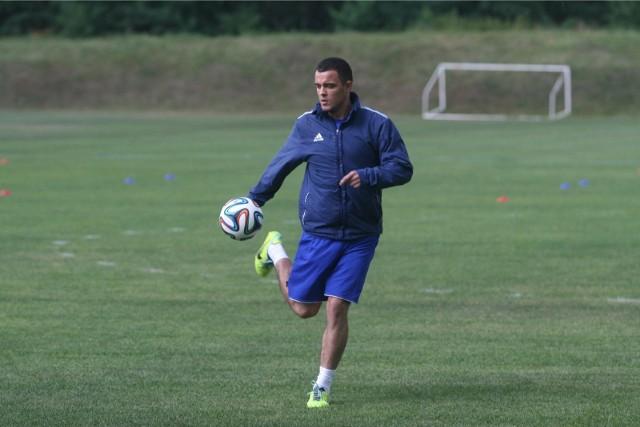 Dawid Janczyk w czasach, gdy próbował wrócić na boisko jako piłkarz Piasta Gliwice
