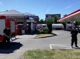 Groźna awaria na stacji benzynowej w centrum miasta [zdjęcia]