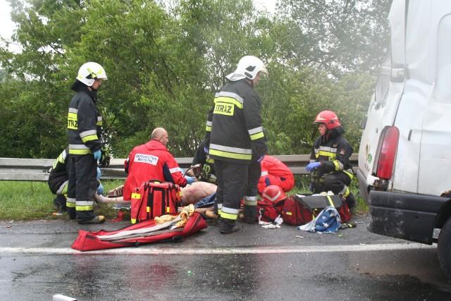 Wypadek autokaru Gdynia-Katowice w Głogówku Królewskim