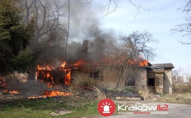 Pożar w Krakowie - zdjęcia dzięki uprzejmości serwisu Kraków 112