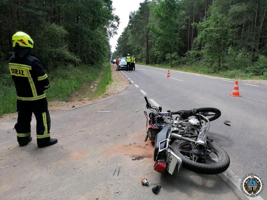 Morgowniki. Wypadek w gminie Nowogród. Motocyklista zderzył się z fordem