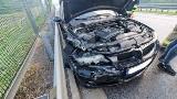 Na S3 pod Międzyrzeczem BMW uderzyło w barierki