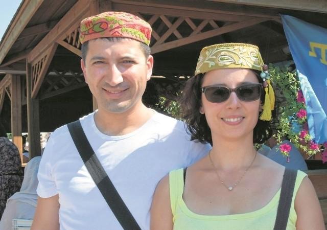 Lenur Kerymov z żoną Martą podczas święta Sabantuj w Kruszynianach