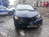 Wypadek dwóch samochodów na Nowowiejskiej (ZDJĘCIA)