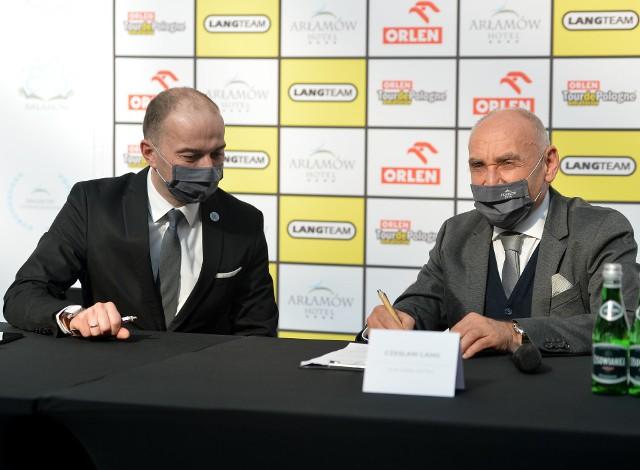 Na zdjęciu Michał Kozak Prezes Zarządu Hotel Arłamów SA i Czesław Lang, Dyrektor Generalny Lang Team.
