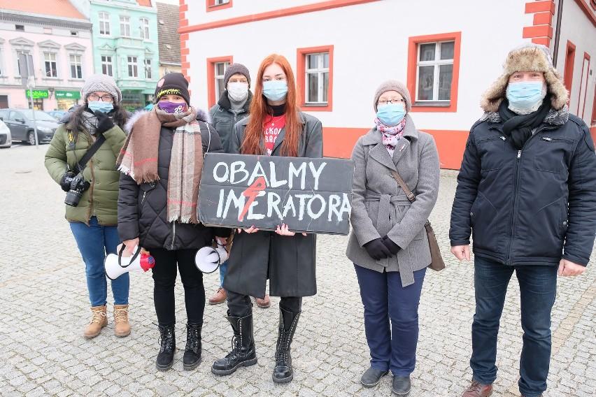 Protest kobiet w Lubsku zorganizowano w sobotę 6 lutego.