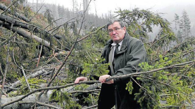 Po ostatnich wichurach mamy ogromne straty w drzewostanie - mówi Józef Worek, nadleśniczy z Ujsół. Usuwanie wiatrołomów potrwa wiele tygodni