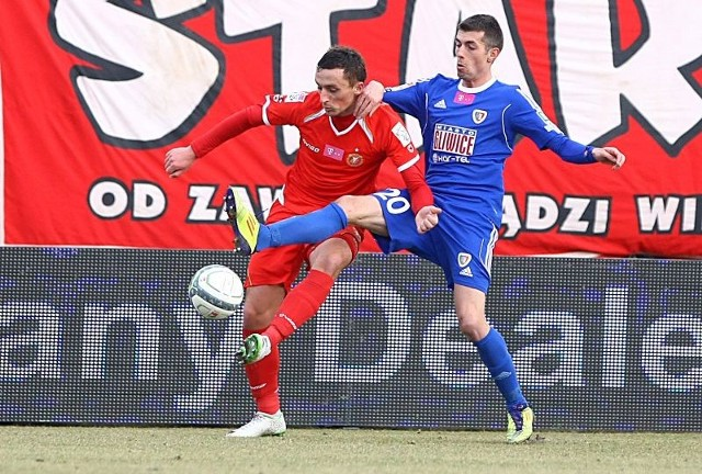 Piotr Mroziński wreszcie zdobył gola dla Widzewa.