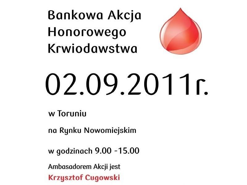 będzie można oddać w piątek na Rynku Nowomiejskim w Toruniu