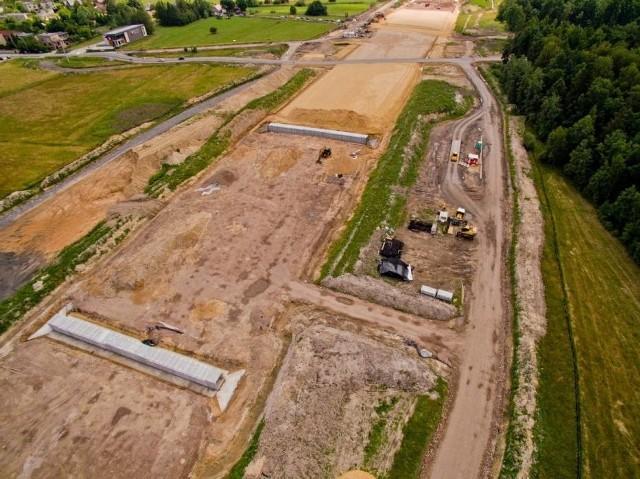 Najbardziej zaawansowane prace przy budowie A1 trwają pomiędzy węzłem w Pyrzowicach a planowanym węzłem Woźniki