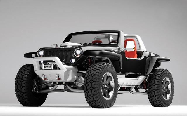 Hurricane nawiązuje do ekstremalnych pojazdów, jakimi jeżdżą najwięksi entuzjaści jeep'a.