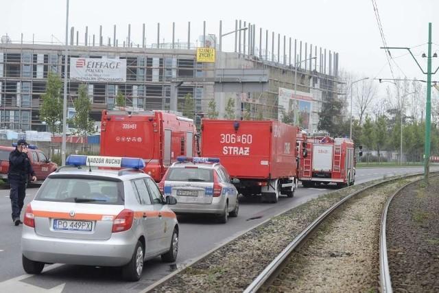 Poznań: Wybuch przy rondzie Śródka. Samochody nie jeżdżą Jana Pawła II