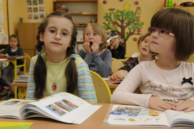 Pierwszoklasistom z SP 14 w Bydgoszczy podoba się w szkole.