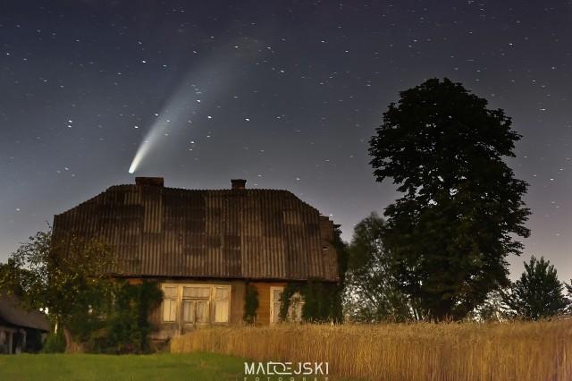 Kometa NEOWISE. Zdjęcie wykonane w Łukowej koło Tarnowa