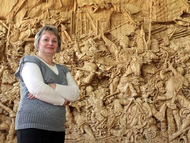 Grunwald w GawluszowicachPlaskorzeLba w skali 1:1 wzorowana na obrazie Jana Matejki prezentowana jest w szkolnej sali gimnastycznej w Gawluszowicach.