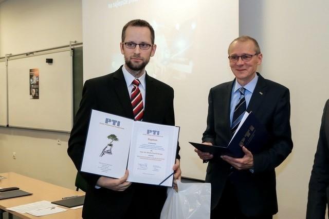 Na zdjęciu Marek Kamiński - został laureatem 36. Ogólnopolskiego Konkursu PTI na najlepsze prace magisterskie z informatyki