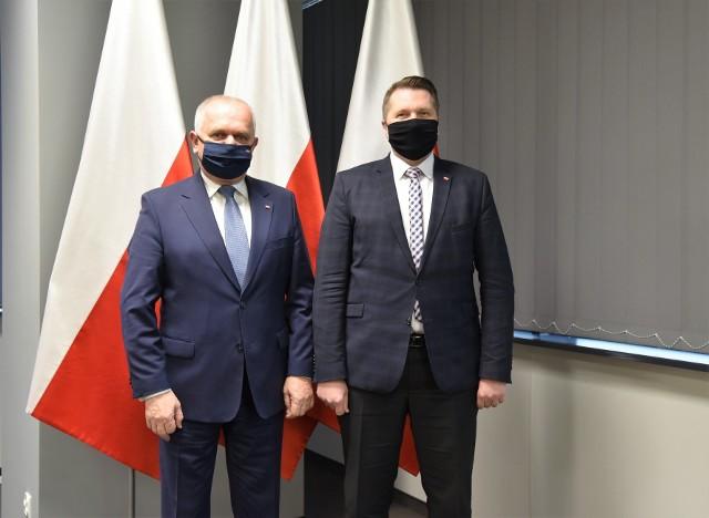 Minister edukacji i nauki Przemysław Czarnek odwiedził województwo lubuskie.