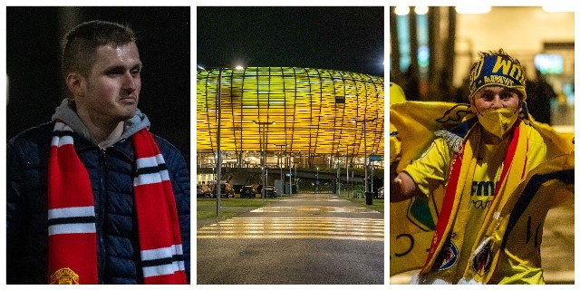 Kibice Villarrealu i Manchesteru United opuszczają stadion w Gdańsku po emocjonującym finale Ligi Europy
