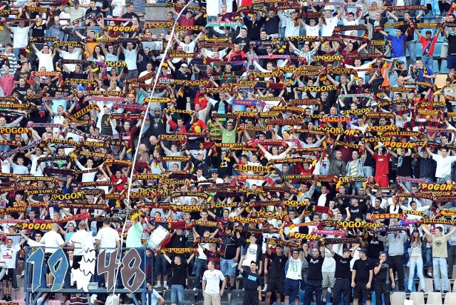 Choć Pogoń piłkarsko jest na zapleczu ekstraklasy, to jej kibice z pewnością są w elicie fanów w Polsce.