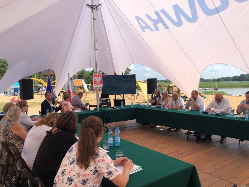 Sesja odbyła się na plaży Siem(i)anówka w Rudni podczas...