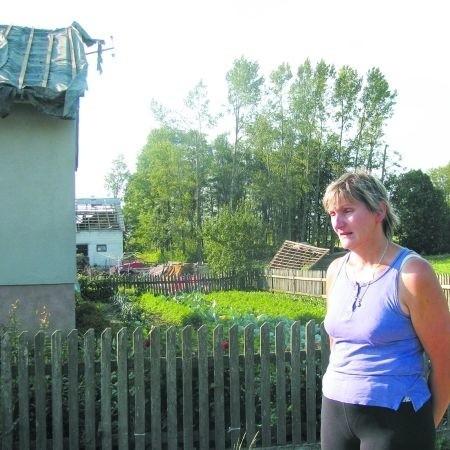Dorota Jabłońska prawie skończyła remont stodoły. Kosztował ok. 20 tys. zł, czyli znacznie więcej, niż całe odszkodowanie!