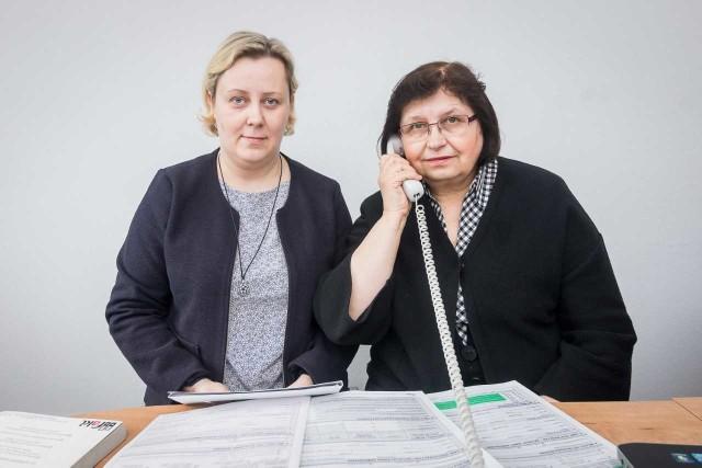 Grażyna Kother (po prawej)i Katarzyna Kośmicka, ekspertki z Izby Administracji Skarbowej w Bydgoszczy