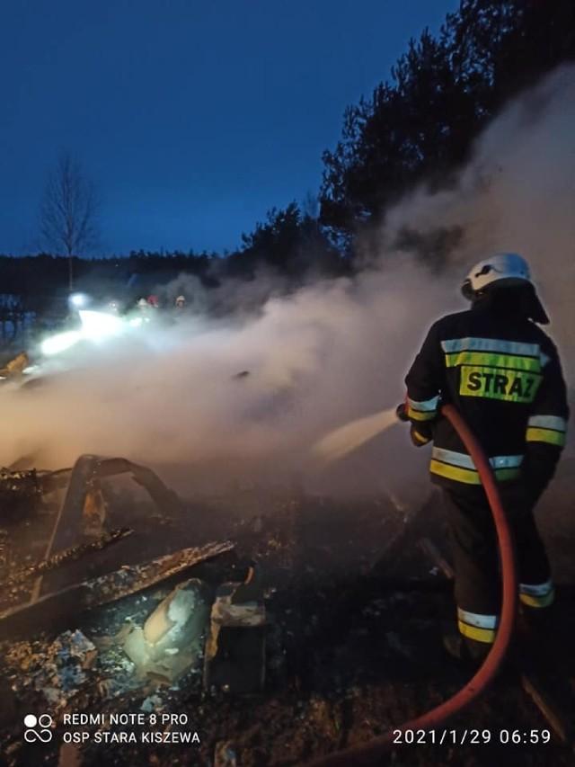 Pożar domku letniskowego, Bartoszylas, 28.01.2021