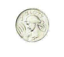 Moneta złotowa z roku 1924, czyli z momentu wprowadzenia złotego do obiegu w II RP przez Władysława Grabskiego.