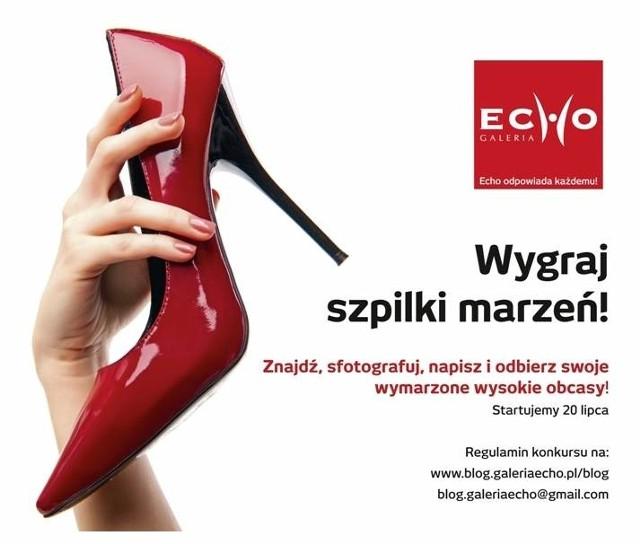 """Konkurs Galerii Echo """"Wygraj szpilki marzeń""""20 lipca 2012 roku rusza konkurs """"Wygraj szpilki marzeń""""."""