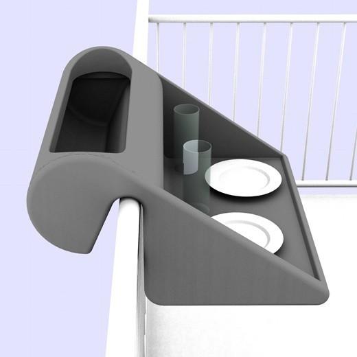 BalkonzeptBalkonzept montuje się na balustradzie balkonowej (do grubości 80 mm). Przedmiot ten został zaprojektowany przez niemiecką firmę Rephorm.