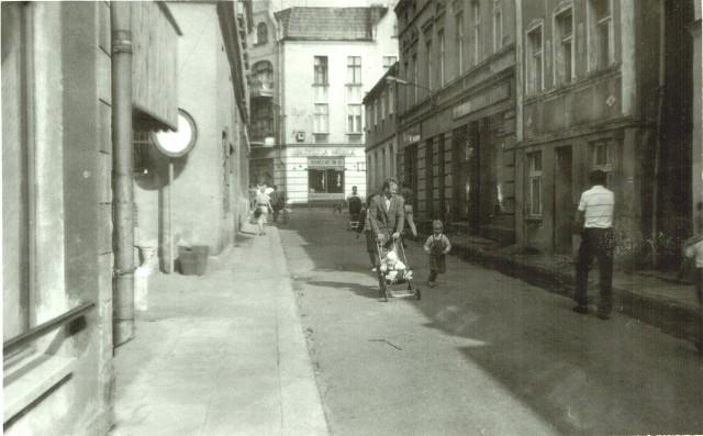 Fotografia z lat 80. XX wieku wykonana w Golubiu-Dobrzyniu