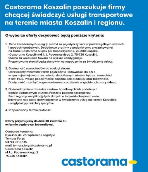 Castorama Artykuly Glos Koszalinski